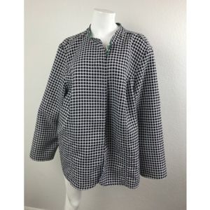 CATHERINES Sz 3x Jacket Checkered Black and White